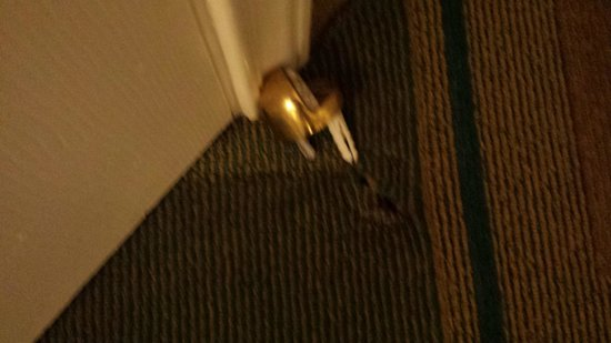 La Quinta Inn & Suites Albuquerque West: Door stop pulled out of floor