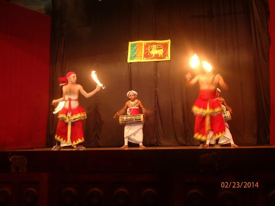 Coconut Tours - Private Day Tours: Front row at the Kandy Dancer show!