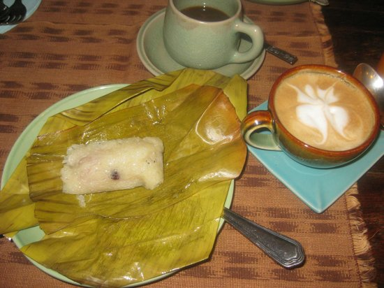 Shewe Wana Boutique Resort and Spa : Delicious Sticky Rice treats and Lattes