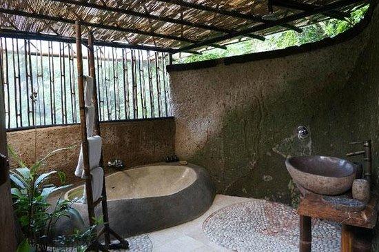Villa Awang Awang: open bathroom concept