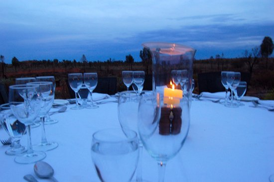 Red Centre, Australia: candle-lit table