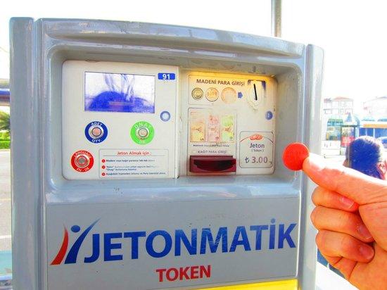 Eresin Hotels Topkapi: Jetonmatik para entrar en tranvía, metro...