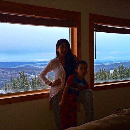 Aurora Borealis Lodge: Our room view.