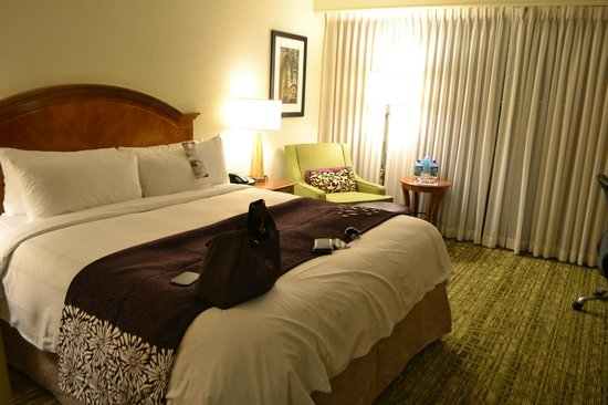 Tampa Airport Marriott: bed and armchair