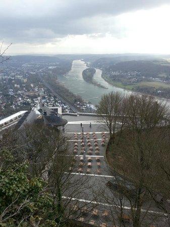 Plateau Drachenfels und Rhein