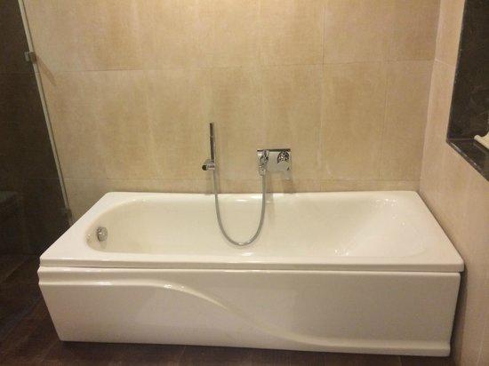 Khanvel Resort: Bath In Super Deluxe Room.