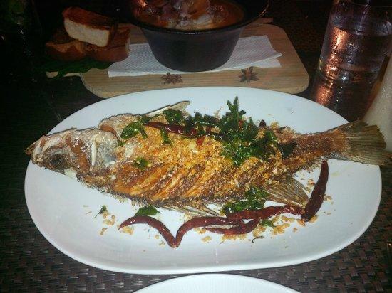Pullman Phuket Panwa Beach Resort: Un plat délicieux toujours au restaurant Azur
