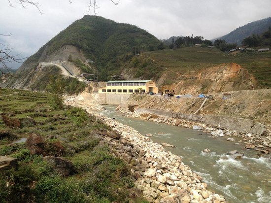 Muong Hoa Valley: Hydro power station at the bottom.