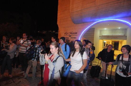 La Maison Hotel Petra: Group Arrival