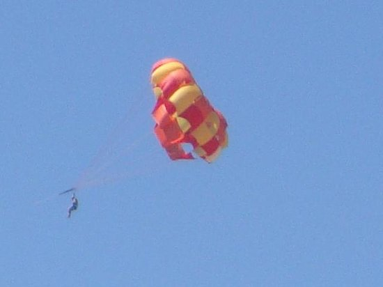 Paihia Pacific Resort Hotel: Someone paragliding - Not us!
