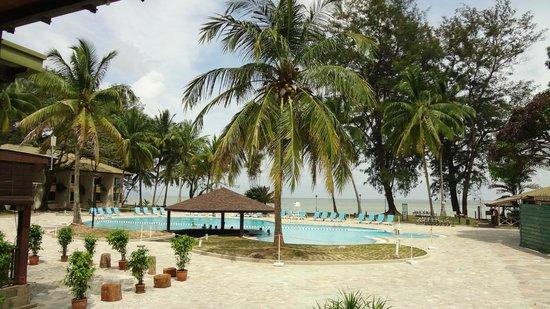 Damai Beach Resort : Нижний бассейн у моря
