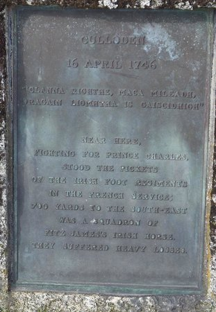 Culloden Battlefield: memorial plaque
