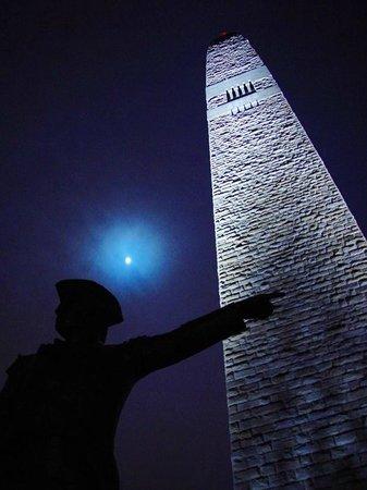 Eddington House Inn: Bennington Battle Monument at night - Old Bennington Village