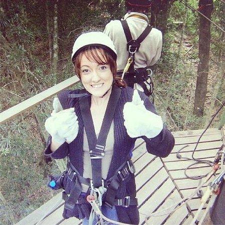 Tsitsikamma Canopy Tours: Proud of myself for the 1st zipline!