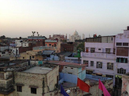 Sai Palace: taj mahal... not as close as the hotel photos..
