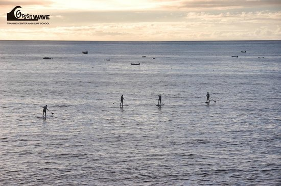 Green Wave Surf School: Sunset with the Stand Up Paddle