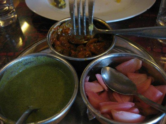 Heritage Indian Restaurant: condiments