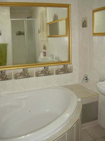 African Elephant Guest House: en suite bathroom with spa bath and separate shower