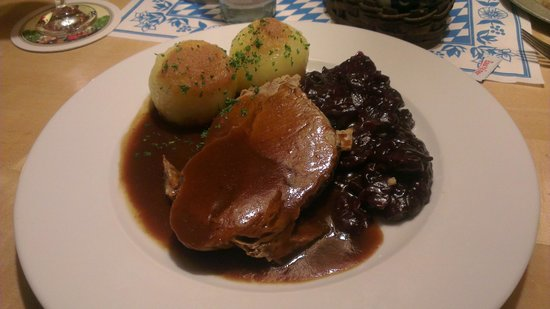 Bavarium: Sliced roast pork and dumplings