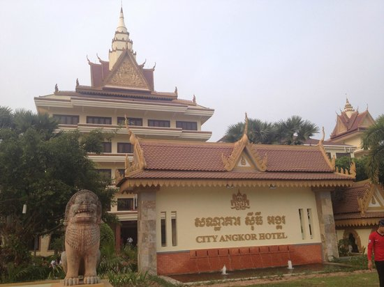 City Angkor Hotel: 外から