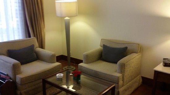 ITC Kakatiya: The single-seat sofas need one stool
