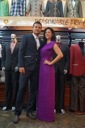 Tailor Phuong Nam : darkblue suit and long elegant dress