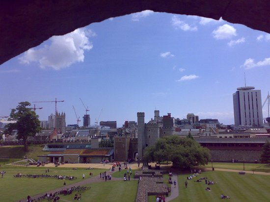 View from Cardiff Castle Keep