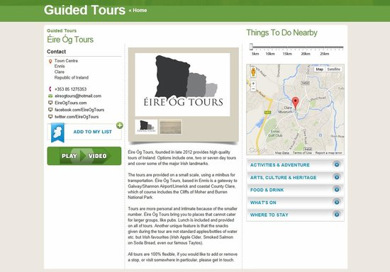 Eire Og Tours - Day Tours: Now featured on the Discover Ireland website!