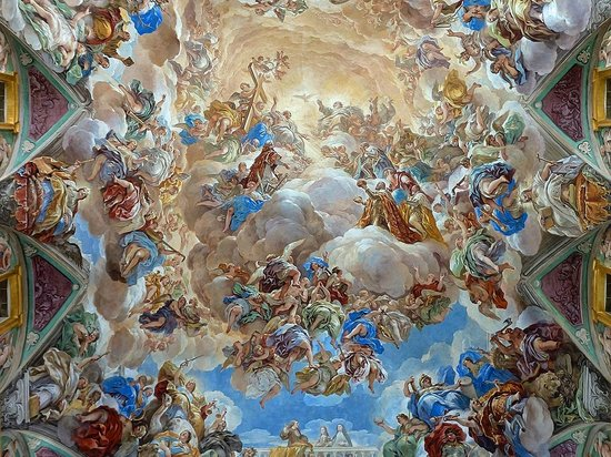 Real Sitio de San Lorenzo de El Escorial: Fresco over the grand staircase at El Escorial