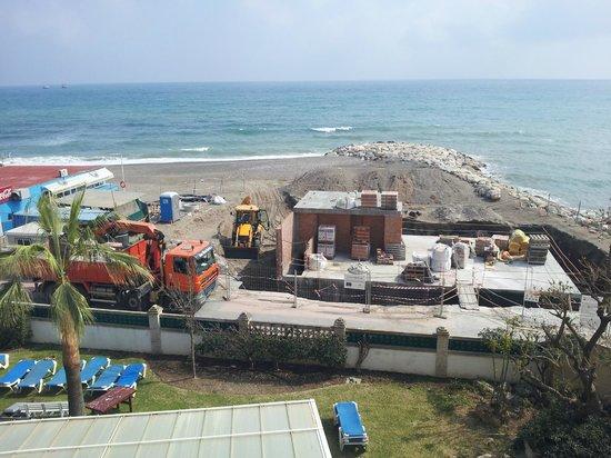 Tryp Guadalmar : Die Hauptbaustelle direkt vor dem Balkon