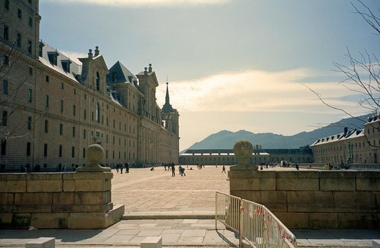 Monasterio y Sitio de San Lorenzo de El Escorial: North side of El Esorical (looking west)