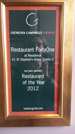 Restaurant FortyOne : Famous chef
