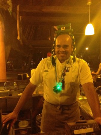 Las Palmas by the Sea: Edgar celebrating St. Patricks Day!