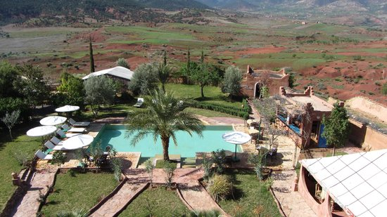 La kasbah d'Ouzoud : vue de la terrasse de la kasbah