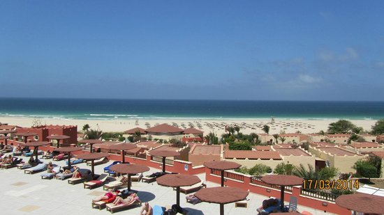 Royal Horizons Boa Vista: looking out to sea from sun terrace bar