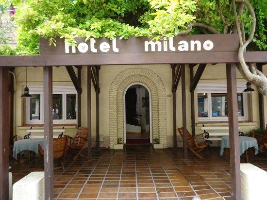 Frente do Hotel Milano