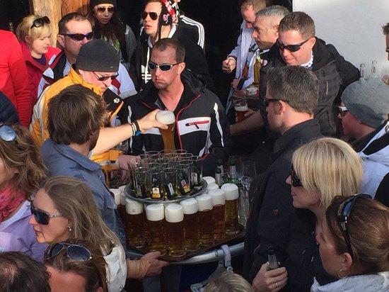 Mooserwirt - wahrscheinlich die schlechteste Skihutte am Arlberg : Getränkeauswahl reduziert