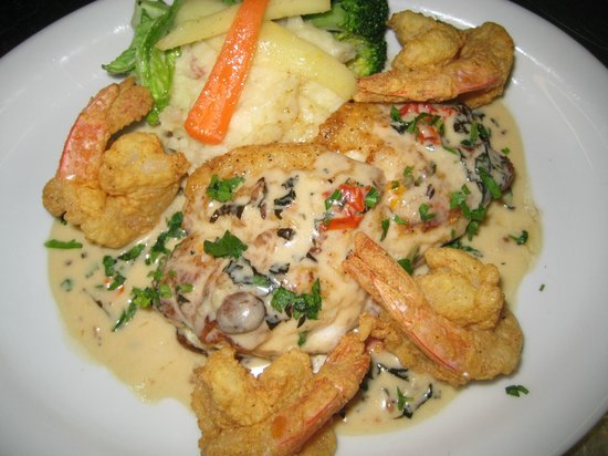 Terrace Restaurant: Sauteed Red Snapper with Fried Shrimp, Spanish ...