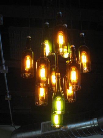 Beer bottle chandelier opinion you