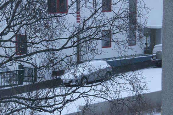 Embassy Luxury Apartments : View from the apartment on a snowy morning!