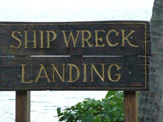 Shipwreck Landing: Sign