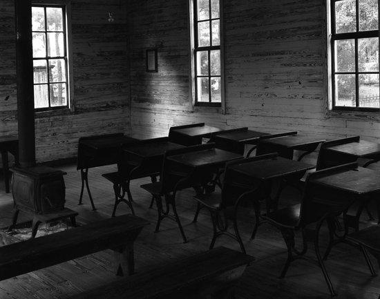 Landmark Park : one-room schoolhouse inside