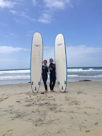Leucadia Surf School: ready to hit the water