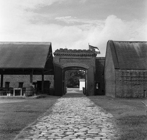 Old Fort Jackson: fort entrance from inside