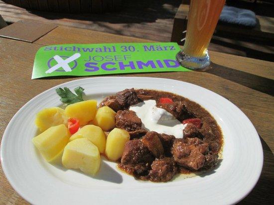 Franz Josef Restaurant: Tages Tip Gulasch für 6,50