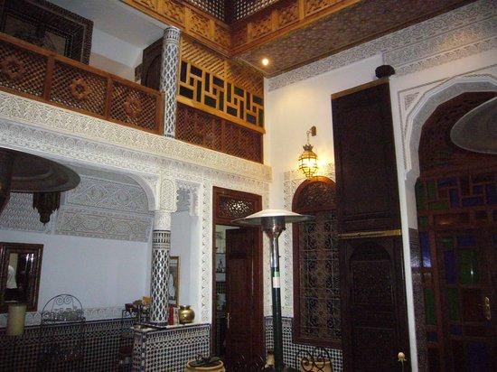 Riad l'Artiste : la cucina dall'alto
