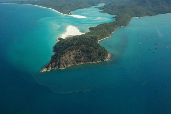 Palm Bungalows : Whitehaven Beach & Hill Inlet from seaplane