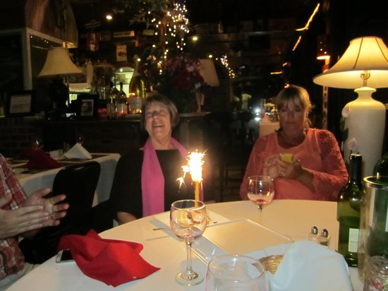 Austrian-German Restaurant: Birthday Candle in Apple Strudel