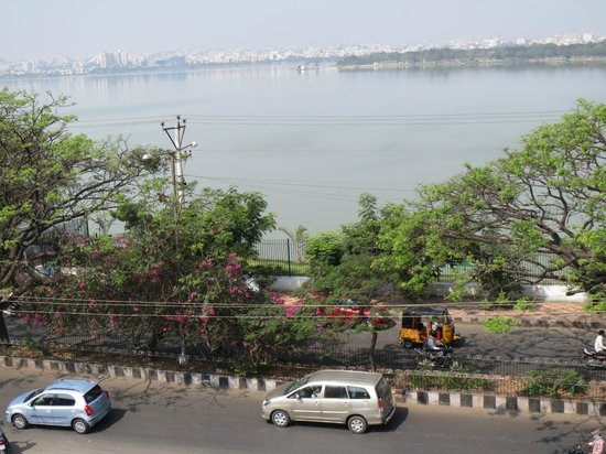 juSTa On Necklace Road, Hyderabad: The view of Hussein Sagar from the hotel terrace.
