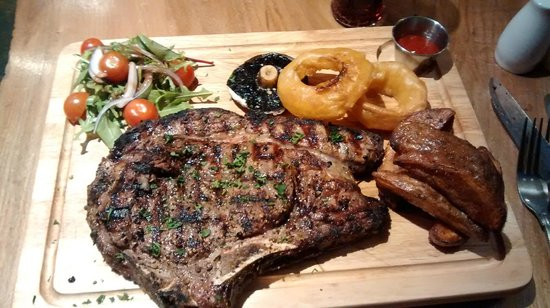 Shebeen Morrison Street: Lion Size Ribeye (about £27 and Half a Kilo) - Beautiful